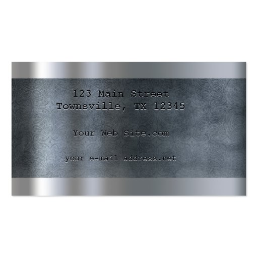 Etched Plate - Blue Business Card Template