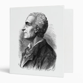 Etched Portrait of Montesquieu by Emile Bayard 3 Ring Binder