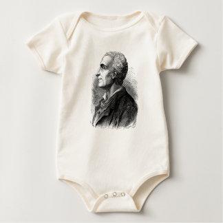 Etched Portrait of Montesquieu by Emile Bayard Baby Bodysuit