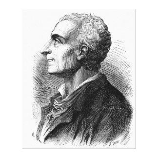 Etched Portrait of Montesquieu by Emile Bayard Canvas Print