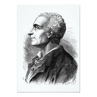 Etched Portrait of Montesquieu by Emile Bayard Card