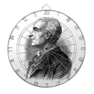 Etched Portrait of Montesquieu by Emile Bayard Dartboard With Darts