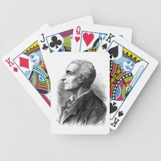 Etched Portrait of Montesquieu by Emile Bayard Card Deck