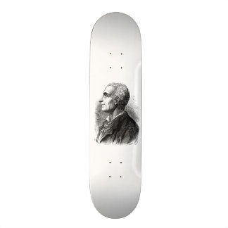 Etched Portrait of Montesquieu by Emile Bayard Skateboard