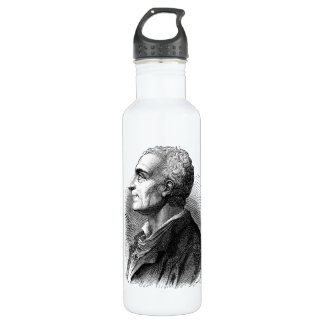 Etched Portrait of Montesquieu by Emile Bayard Stainless Steel Water Bottle