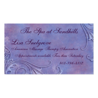 Etched Watercolor Business Cards
