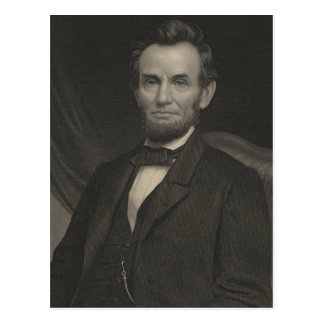 Etching Portrait of Abraham Lincoln Postcard