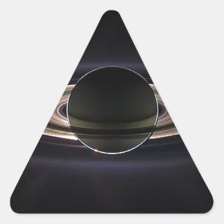 ` Etéreo de Saturn Pegatina Triangular