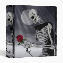 skull, skeleton, skeletons, skulle, rose, roses, dark, scary, flower, flowers, love, digital realism, Fichário com design gráfico personalizado