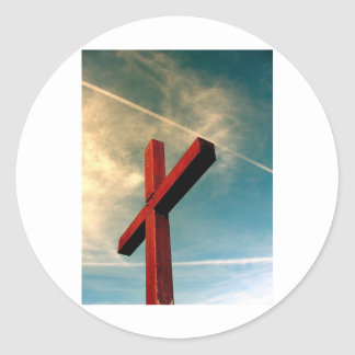 Eternal Cross Classic Round Sticker