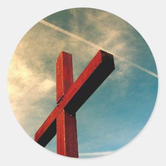 Eternal Cross Classic Round Sticker