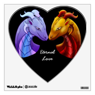 Eternal Dragon Love Wall Sticker