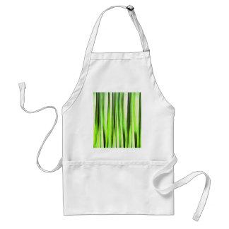 Eternal Evergreen Stripy Pattern Adult Apron