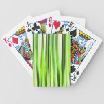 Eternal Evergreen Stripy Pattern Bicycle Playing Cards