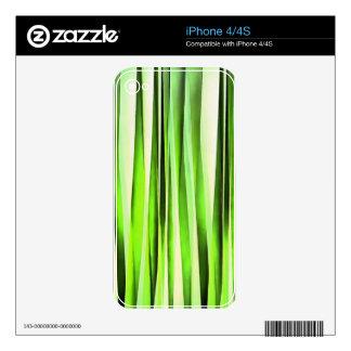 Eternal Evergreen Stripy Pattern Decals For iPhone 4