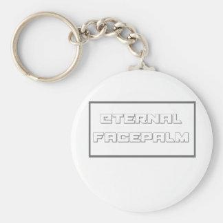 eternal facepalm basic round button keychain