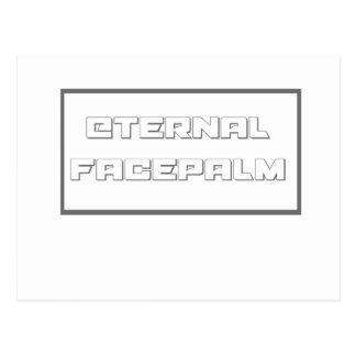 eternal facepalm postcard