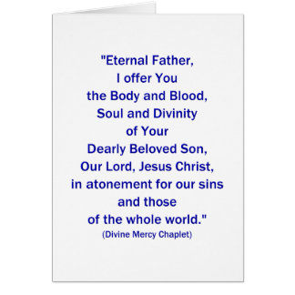 Eternal Father, I offer You.... Card