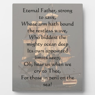 Eternal Father Strong to Save Plaque
