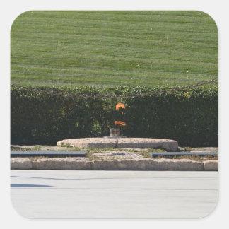 Eternal Flame for John F Kennedy Memorial Square Sticker