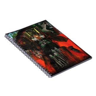 Eternal Flame Mixed Media Original Art Notebook