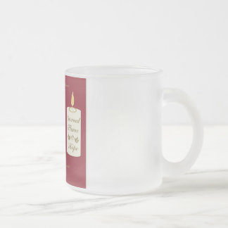 Eternal Flame Of Hope Frosted Glass Mug