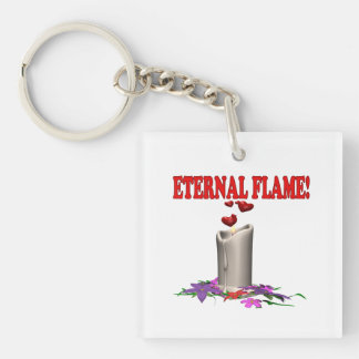 Eternal Flame Single-Sided Square Acrylic Keychain