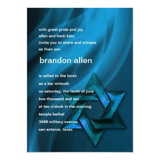 Eternal Flame Star of David in Blue Card