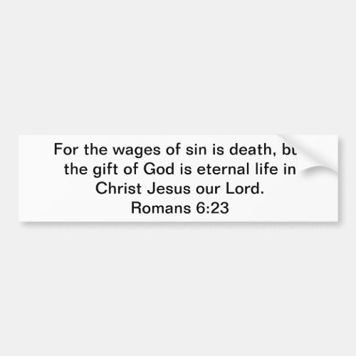 Eternal Gift of Life Bumper Sticker