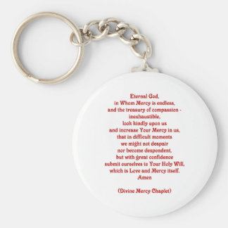 Eternal God in Whom Mercy is Endless... Keychain