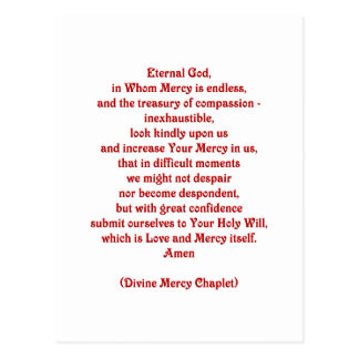 Eternal God in Whom Mercy is Endless... Postcard