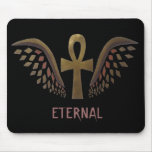 Eternal- Gold Ankh Mouse Pad