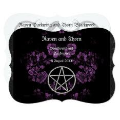 Eternal Handfasting/wedding Pentacle Lavender Ste Card at Zazzle