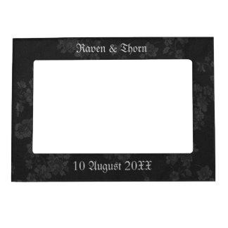 Eternal Handfasting Wedding Suite Black Gray Photo Frame Magnet