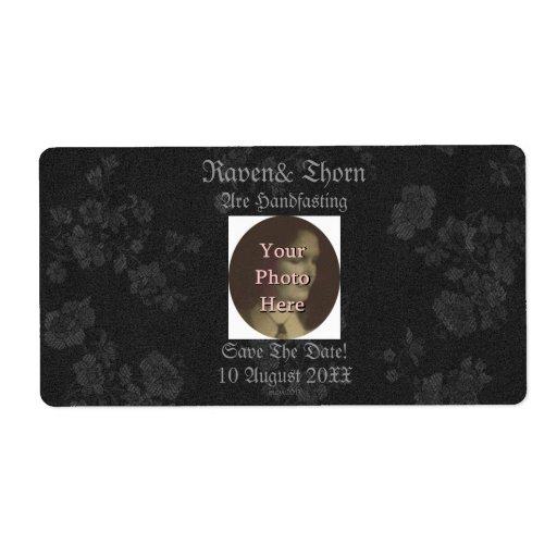 Eternal Handfasting/Wedding Suite Black/Gray Shipping Label
