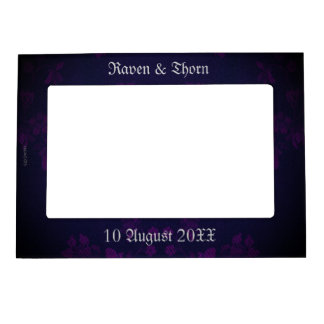 Eternal Handfasting Wedding Suite Purple Picture Frame Magnets