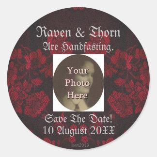 Eternal Handfasting/Wedding Suite Round Stickers