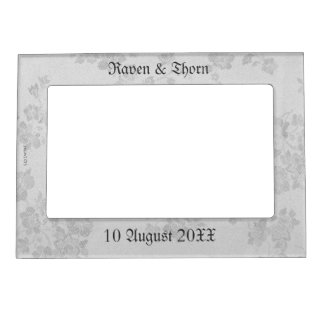 Eternal Handfasting Wedding Suite White Gray Picture Frame Magnets