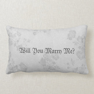 Eternal Handfasting/Wedding Suite White & Gray Pillow