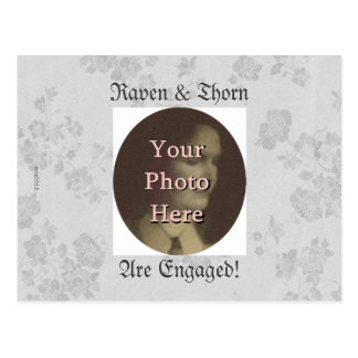 Eternal Handfasting/Wedding Suite White & Gray Postcard