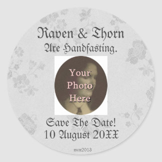 Eternal Handfasting/Wedding Suite White & Gray Stickers