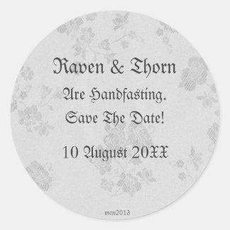Eternal Handfasting/Wedding Suite White & Gray Sticker