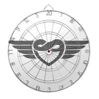 Eternal heart wings dart boards