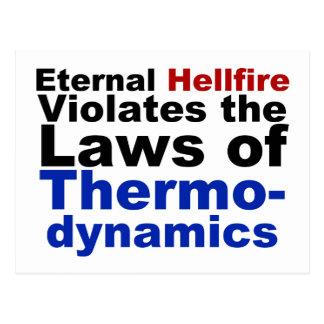 Eternal Hellfire Violates Thermodynamics Post Card