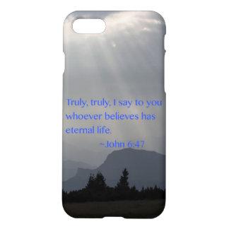 """Eternal"" John 6:47 iPhone 8/7 Case"