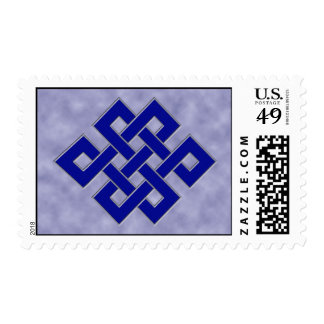 Eternal Knot on Clouds Postage