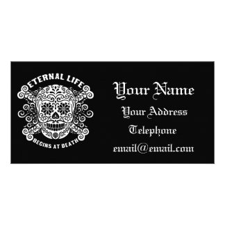 Eternal Life Begins at Death Photo Card Template