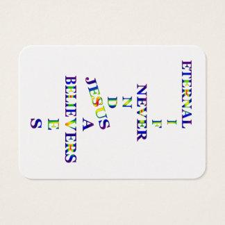 Eternal Life Never Ends Jesus Saves Believer Card