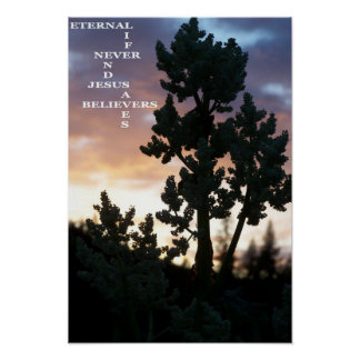 Eternal Life Never Ends Jesus Saves Believers Poster