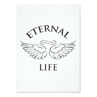 Eternal Life Wings 4.5x6.25 Paper Invitation Card